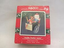 "Enesco  1991  "" Peddle Pushin' Santa ""  Holiday Ornament NIB  #566071  (515)"