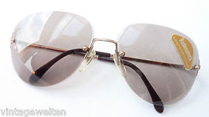 Rimless Glasses Rodenstock Sorrent 75% Braun Sunglasses Vintage Light Size L