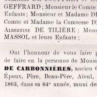 Louis Ernest De Carbonnières De Saint-Brice Blois 1863