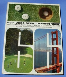 1966 USGA Open Championship Golf Program San Francisco Billy Casper