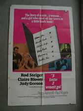 3 into 2 won't go Rod Steiger Claire Bloom 1969 27X41 originial movie poster