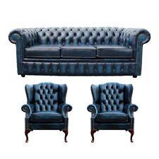 Design Chesterfield Möbel Couch Sofa Ohrensessel Polster Sitz Leder Textil Sofas