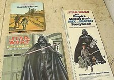 VINTAGE STAR WARS BOOKS LOT OF (3) BOOKS 1980s RARE