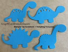 • • • Die Cuts ~ DINOSAURS x4 sets Blue ~ Stampin Up C/S ~ Cards ~ Scrapbooking