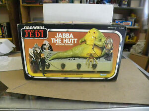Kenner 1983 JABBA THE HUTT with Dais Salacious Crumb NM Complete w Box mf