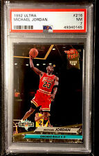 1992-93 Fleer Ultra Michael Jordan NBA Jam Session #216 PSA 7 NM Bulls