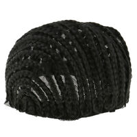 Stretchable Cornrow Braided Wig Cap for Crochet with Elastic Band and Combs