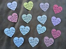 10 Wedding Save The Date Personalised Heart Shaped Magnet Cards - Multi Design