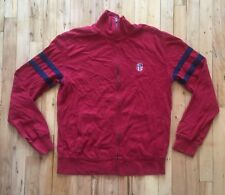 Polo Jeans Company Ralph Lauren MFG. Full Zip Medium Wine Color Sweater