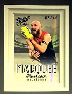 2021 AFL PRESTIGE SERIES MARQUEE CARD - MAX GAWN MELBOURNE DEMONS 8-40