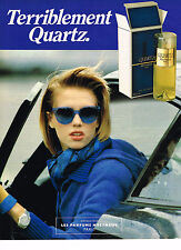 PUBLICITE ADVERTISING 054  1985  MOLYNEUX  parfum femme QUARTZ