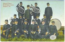 Newport ME Music Newport Band R.H. Dyer Bandleader Instruments Vintage Postcard