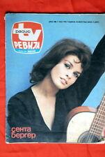 SENTA BERGER ON UNIQUE COVER 1976 RARE EXYU MAGAZINE