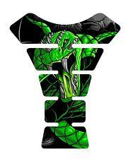 Venom Green Snake Skull Motorcycle Gel Gas tank pad tankpad protector Decal