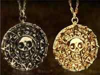 Gold Coin Medal Pirates of the Caribbean JACK SPARROW AZTE Necklace Elizabeth