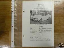 RO5-ROVER TYPE 2000 SC, 2000 TC EN AUTOMATIC 1963-1969