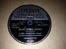 CARL PERKINS : BLUE SUEDE SHOES / HONEY DON'T.  UK.78.rpm (1956)