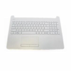 Reposamuñecas Touchpad Teclado Español HP 15-bs 15-bw 925009-071 Blanco Nieve