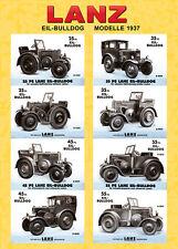 Lanz rápido-Bulldog 1937 póster cartel imagen folleto decorativas d 7531 9531 2531 9539 CV