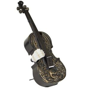 """HALLOWEEN 14"""" Haunted VIOLIN Animated PARTY Decor MUSIC """"Danse Macabre"""" Light Up"""