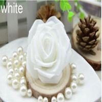 100-500pcs White PE Foam Roses Artificial Flower Wedding Bride Bouquet Decor