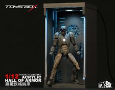 TOY BOX 1/12 Acrylic Hall of Armor Iron Man Figure Display Dust Box MK41