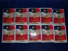 🔥 (10) 1/10 Gram Gold Bar  24K 999 Fine Gold Bullion Bar SEALED