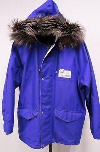 Rare Volvo Lillehammer 1994 Winter Olympics Hooded Winter Ski Coat Purple XL