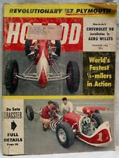 HOT ROD MAGAZINE NOVEMBER 1956 NEW 57 PLYMOUTH VINTAGE CARS AUTOMOBILES