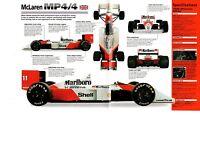 1988 McLaren MP4/4 (Honda Powered) SPEC SHEET/Brochure