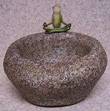 "Flower Pot Meditating Frog Succulent Tillandsia plant resin planter NEW 5¾"" tall"