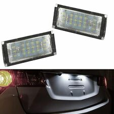 ECLAIRAGE PLAQUE LED BMW SERIE 3 E46 COUPE PHASE 1 9/1998-3/2003 BLANC XENON