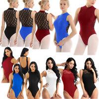 Ladies Women Sleeveless Lace Ballet Dance wear Leotard Dress Gymnastics Unitards