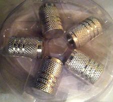 Reifenventil-Kappen Tuninig Auto 1Set Aluminium   silber
