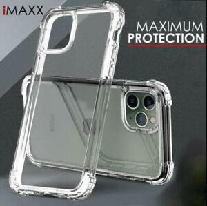 For i Phone 13 12 Pro XR 11 7 Case Hybrid Shockproof Clear TPU Hard Bumper Cover