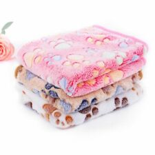Fleece Sleeping Pet Blanket Dog Cat Winter Breathable Paw Designed Quilt Mat New