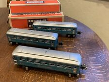 Nice! LIONEL 2-2640 PULLMANS & 2641 OBSERVATION CARS - O GAUGE postWAR Blue Gray