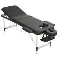 Folding Massage Table Portable 3 Section Beauty Tattoo Physio Therapy Couch Bed