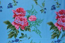 Blue Floral Flannelette Fabric 108cm Wide (per metre)