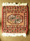 """BEAUTIFUL HAND WOVEN MULTI COLOR TAPESTRY HANGING WALL/TABLE RUG 12"""" X 13"""""""