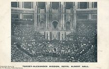 POSTCARD  SOCIAL  HISTORY  LONDON  Royal Albert Hall  TORREY ALEXANDER  Mission