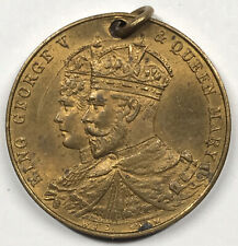George V King & Emperor Crowned 1911 medal / fob / charm - 22 mm - George & Mary