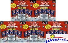 (5) 2012 Topps NFL MEGA Box+Platinum HOBBY+CHROME REFRACTOR Luck/Griffin III RC