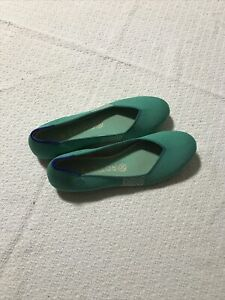 Rothys Women's Green Flats Shoes Round Toe Size 9