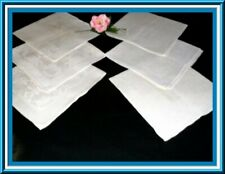 STUNNING  SET OF SIX ANTIQUE IRISH LINEN DAMASK NAPKINS WITH GREAT DESIGN
