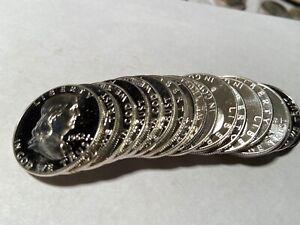 Full Roll of 20 PROOF Mirror Like 1962 Benjamin Franklin Half Dollars 90% Silver