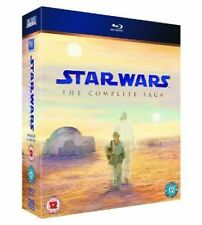 Star Wars - The Complete Saga (Blu-ray, 2011, 9-Disc Box Set          Fast  Post