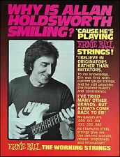 Allan Holdsworth 1984 Ernie Ball Guitar Strings ad 8 x 11 advertisement print