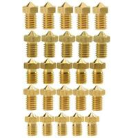 0.2/0.4/0.5/0.6mm Brass Nozzle for 1.75mm MK8 3D Printer V5&V6 J-Head