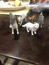 Lot Of 8 Wolf Figures
